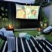Outdoor garden cinema movie night